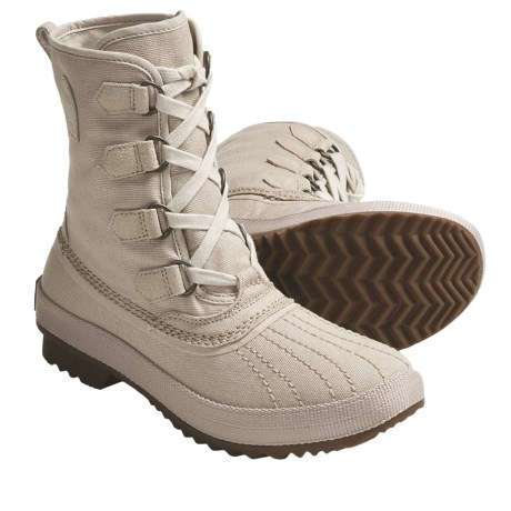 Sorel Tivoli Rugged Canvas Boots (For Women) in Oyster Grey