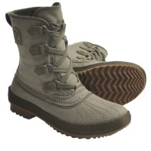 Sorel Tivoli Rugged Canvas Boots (For Women) in Vetiver - Closeouts