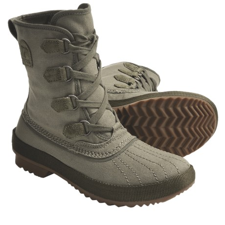 Sorel Tivoli Rugged Canvas Boots (For Women) in Elephant