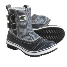 Sorel Tivoli Slip Pac Boots - Waterproof, Insulated (For Women) in Macadam/Very Pink - Closeouts