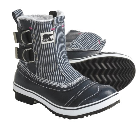 Sorel Tivoli Slip Pac Boots - Waterproof, Insulated (For Women) in Macadam/Very Pink