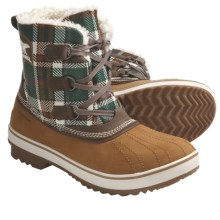 Sorel Tivoli Tweed Winter Pac Boots - Waterproof (For Women) in Chestnut/Bone Brown - Closeouts