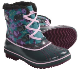 Sorel Tivoli Winter Pac Boots - Waterproof, Insulated (For Youth) in Port Royal/Pink Carnation