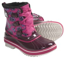 Sorel Tivoli Winter Pac Boots - Waterproof, Insulated (For Youth) in Port Royal/Pink Carnation - Closeouts