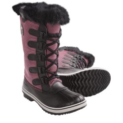 Sorel Tofino Nylon Pac Boots - Waterproof, Insulated (For Women) in Chili/Black