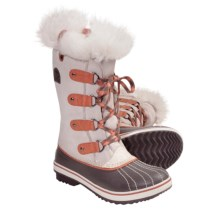 Sorel Tofino Tall Winter Boots (For Youth) in Winter White/Bright Peach - Closeouts