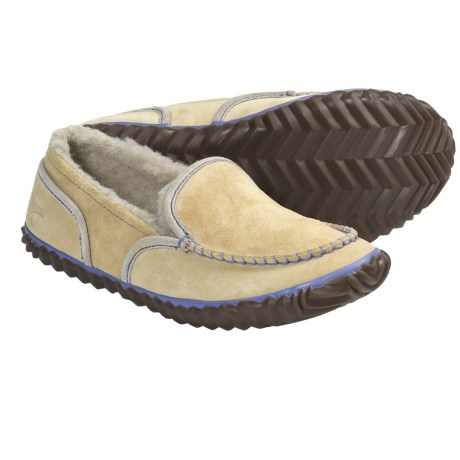 Sorel Tremblant Moc Slipper Shoes (For Women) in Sierra Tan/Stone