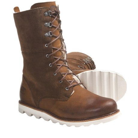 Sorel Wicked Work Boots - Leather, Shearling Lining (For Women) in Brown