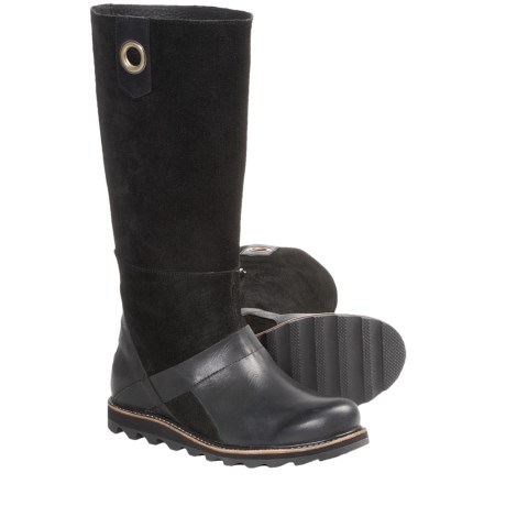 Sorel Wicked Workboot Tall Boots - Leather (For Women) in Black