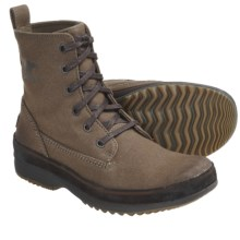 Sorel Woodbine Surplus Boots - Canvas (For Men) in Dark Olive/After Dark - Closeouts