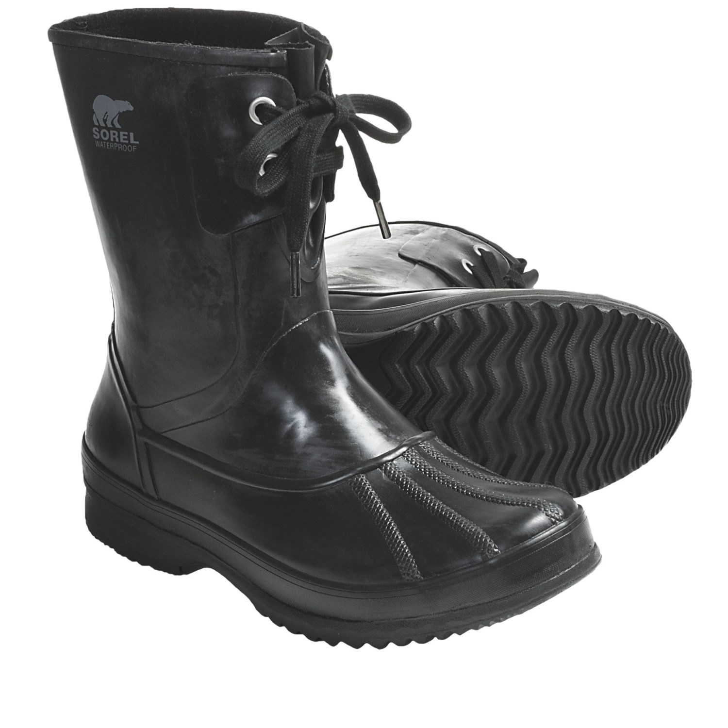 sorel woodbine welly rubber boots waterproof insulated