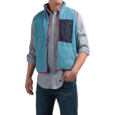 Southern Proper All-Prep Fleece Vest - Zip Front (For Men) in Retro Blue - Closeouts
