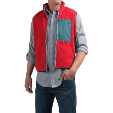 Southern Proper All-Prep Fleece Vest - Zip Front (For Men) in True Red - Closeouts