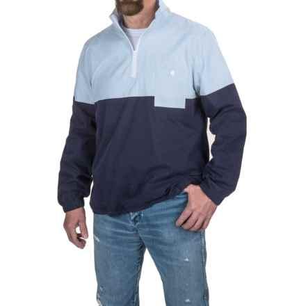 Southern Proper Dock Shirt - Zip Neck, Long Sleeve (For Men) in Hydrangea/Navy - Closeouts
