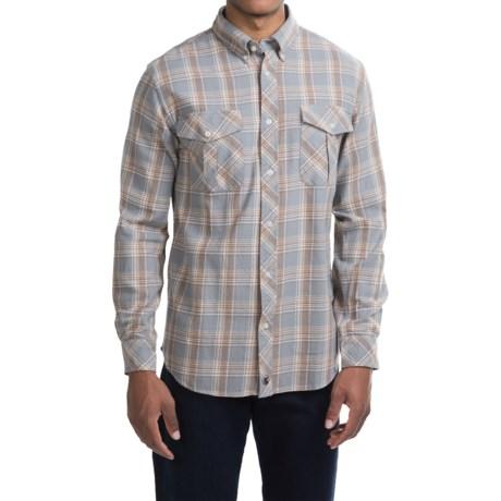 Southern Proper Field Flannel Shirt - Long Sleeve (For Men) in Grey