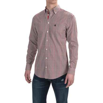 Southern Proper Goal Line Check Shirt - Long Sleeve (For Men) in Red/Black - Closeouts