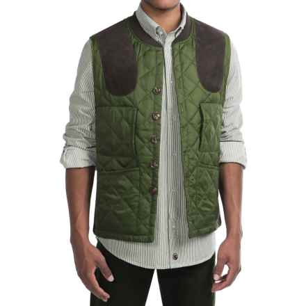 Southern Proper Jefferson Shooting Vest - Insulated (For Men) in Live Oak Green - Closeouts