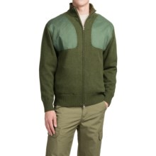 Southern Proper Madison Shooting Sweater - Full Zip (For Men) in Live Oak Green - Closeouts