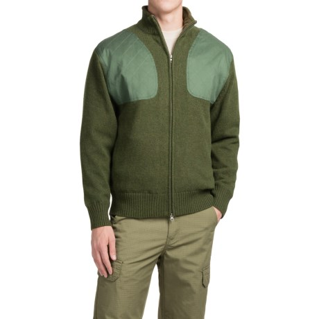 Southern Proper Madison Shooting Sweater - Full Zip (For Men) in Live Oak Green