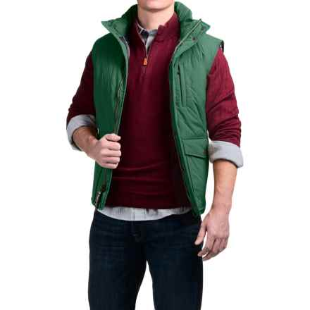 Southern Proper Quilted Varsity Vest - Insulated (For Men) in Hunter Green - Closeouts