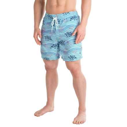 Southern Proper Riptide Swim Trunks (For Men) in Hydrangea - Closeouts
