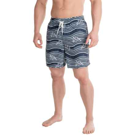 Southern Proper Riptide Swim Trunks (For Men) in Navy - Closeouts