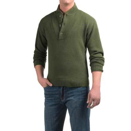Southern Proper Shawl-Collar Sweater - Wool (For Men) in Live Oak Green - Closeouts