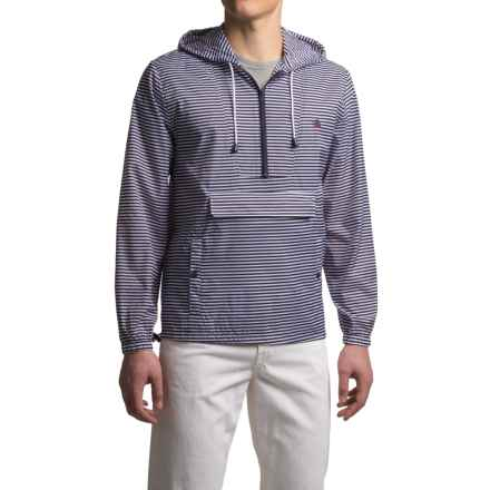 Southern Proper Striped Labrador Jacket - Zip Neck (For Men) in Navy/White - Closeouts