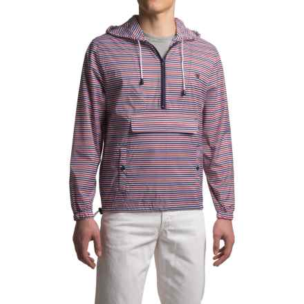 Southern Proper Striped Labrador Jacket - Zip Neck (For Men) in Red/White/Navy - Closeouts