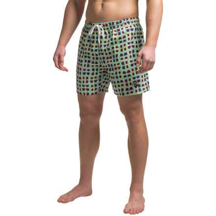Southern Proper Swim Trunks - Built-In Brief (For Men) in Mint Green/Sunglasses - Closeouts