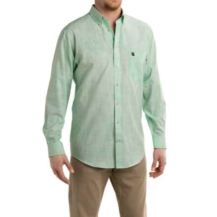 Southern Proper Weekend Shirt - Long Sleeve (For Men) in Green/White - Closeouts