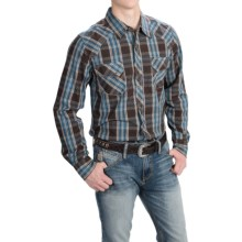 Southern Thread Snap Front Shirt - Snap Front, Long Sleeve (For Men) in Brown/Blue Plaid - Closeouts