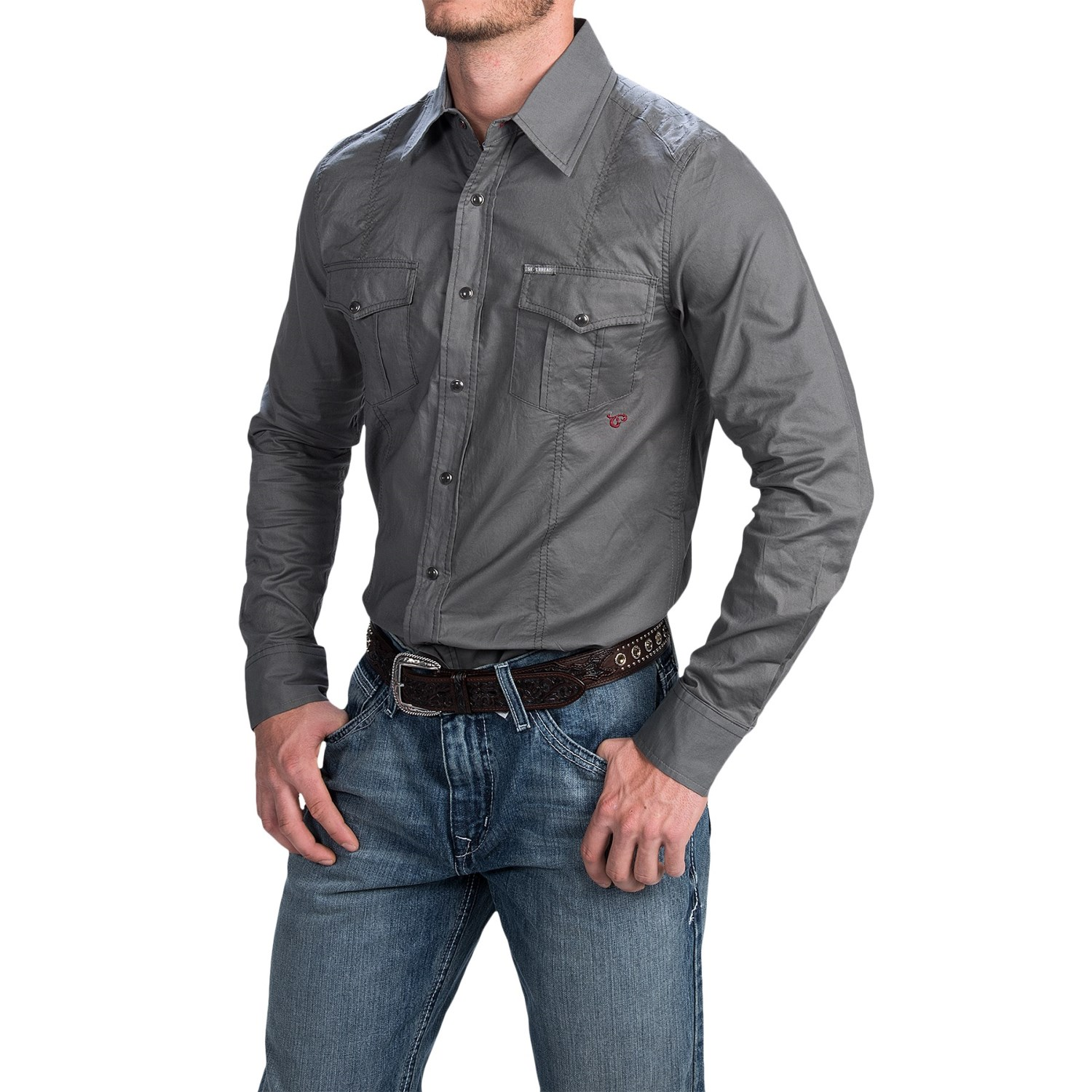 southern thread snap front shirt for men save 66