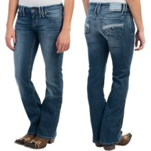 Southern Thread The Lankin Jeans - Bootcut (For Women) in Mid Wash - Closeouts