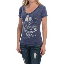 Southern Thread V-Neck T-Shirt - Short Sleeve (For Women) in Navy - Closeouts