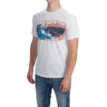 Southern Thread Vintage Athletic T-Shirt - Short Sleeve (For Men) in White - Closeouts