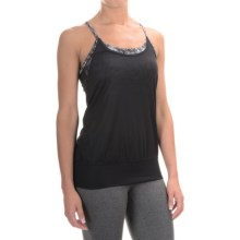Soybu Aria Tank Top - Built-In Bra (For Women) in Black Mirage - Closeouts