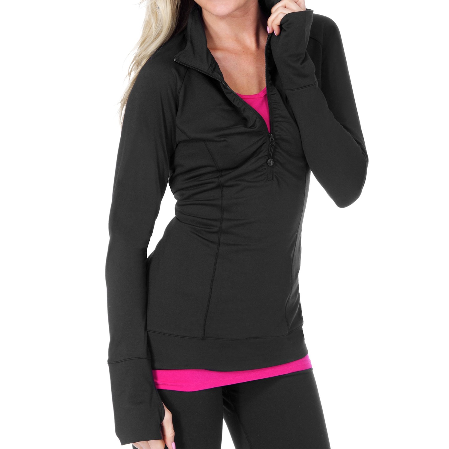 SoyBu Athena Pullover - UPF 50+, Zip Neck, Long Sleeve (For Women) in