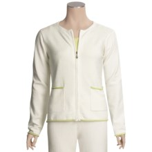 SoyBu Crew Neck Jacket - Full Zip (For Women) in Antique White - Closeouts