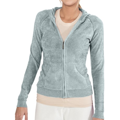 SoyBu Destination Hoodie Sweatshirt - Chenille, Full Zip (For Women) in Tranquility