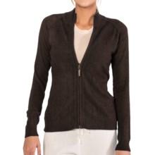 SoyBu Destination Sweater - Chenille, Full Zip (For Women) in Espresso - Closeouts