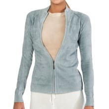 SoyBu Destination Sweater - Chenille, Full Zip (For Women) in Tranquility - Closeouts
