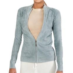 SoyBu Destination Sweater - Chenille, Full Zip (For Women) in Granite