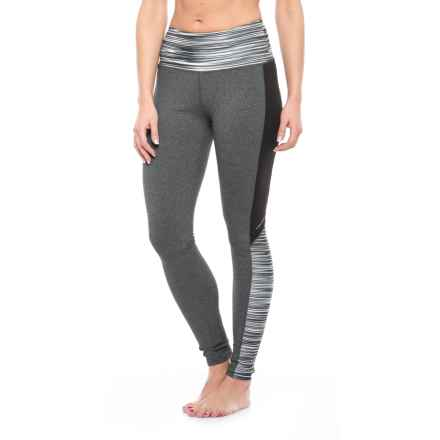 Soybu Flex Core Tights - UPF 50+ (For Women) in Black Wave - Closeouts