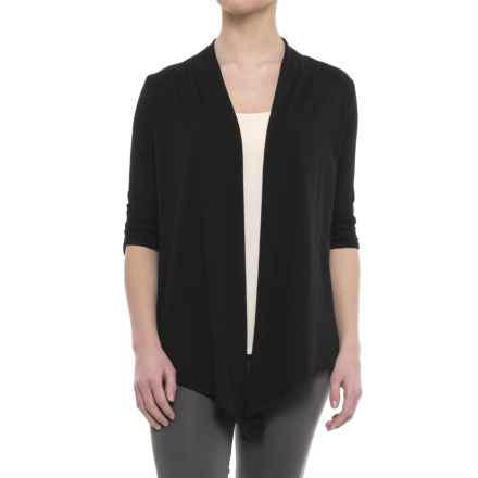 Soybu Meryl Wrap Shirt - 3/4 Sleeve (For Women) in Black - Closeouts