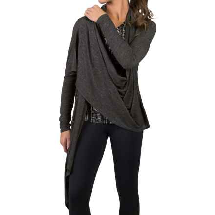 Soybu Shelby Wrap Shirt - Long Sleeve (For Women) in Black - Closeouts
