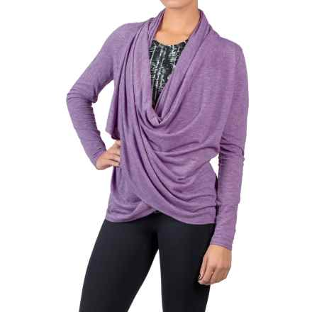 Soybu Shelby Wrap Shirt - Long Sleeve (For Women) in Silver Plum - Closeouts