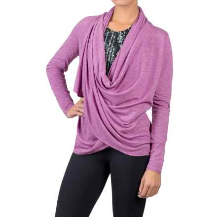 Soybu Shelby Wrap Shirt - Long Sleeve (For Women) in Starboard - Closeouts