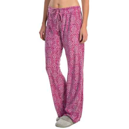 Soybu Silky Fleece Lounge Pants (For Women) in Purple Script - Closeouts