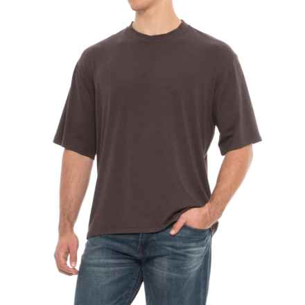 Soybu Solid Stretch-Knit Shirt - Short Sleeve (For Men) in Espresso - Overstock